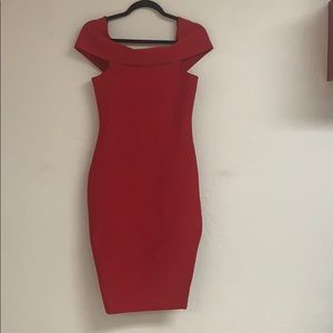 Zaful red bodycon off the shoulder sweater dress L